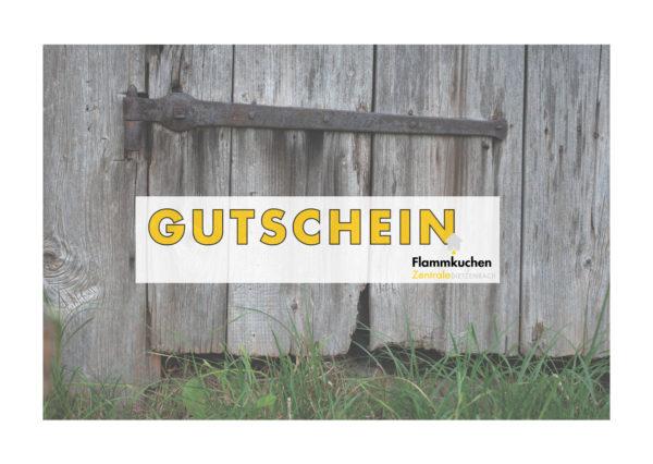 Wertgutschein der Flammkuchen Zentrale Dietzenbach